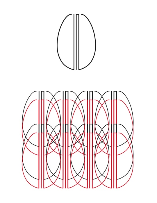 JN Art Deco-inspired logo and pattern
