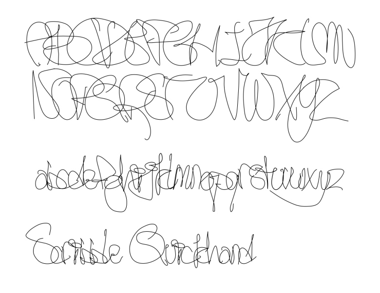 Scribble Quickhand font