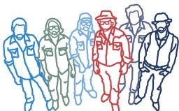 Sons Of Fathers (band) line drawing