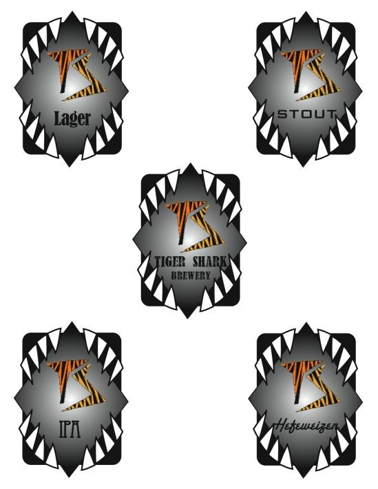 Tiger Shark Craft Brewery Logos
