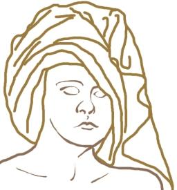 Towel Head line drawing