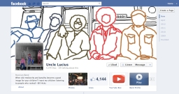 Uncle Lucius (band) line drawing Facebook Page