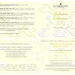 Universities at Shady Grove Graduation folded invitation