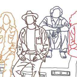 Wheeler Brothers (band) line drawing
