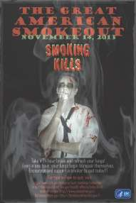 CDC Great American Smokeout poster 2