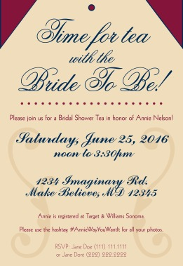 Annie Bridal Shower invitation
