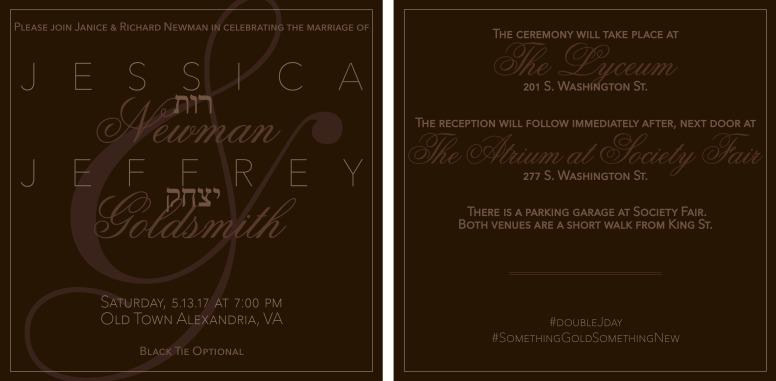 JJ Wedding Invitation