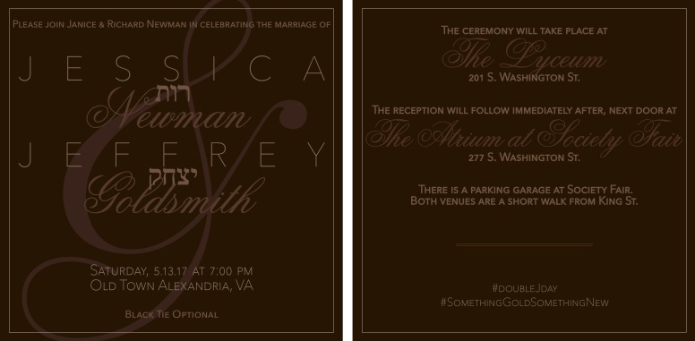 JJ Wedding Invitation