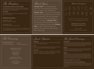 JJ Wedding Program trifold