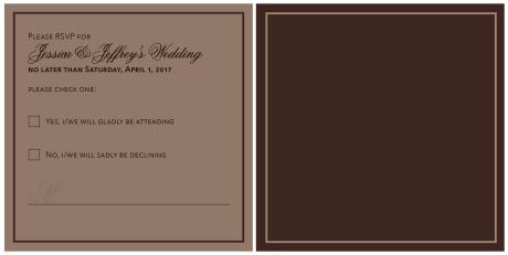 JJ Wedding RSVP card