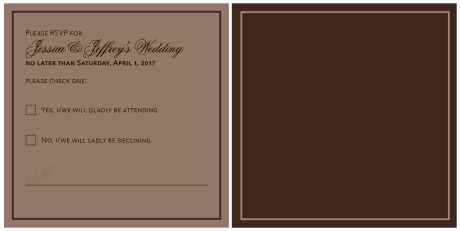 JJ Wedding RSVP card