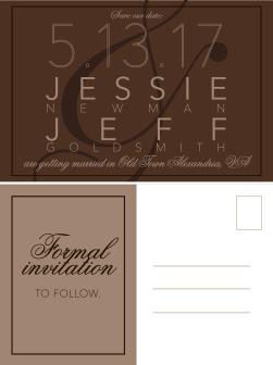 JJ Wedding Save The Date Postcard