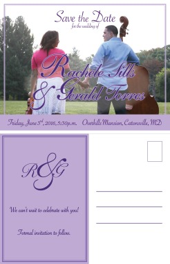 Rachele Gerald Save The Date postcard