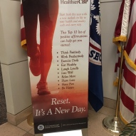 CBP New Year lobby banner