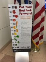 CBP National Nutrition Month lobby banner