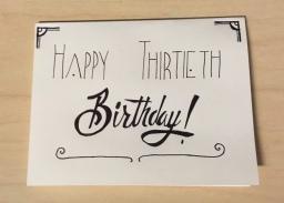 Thirtieth Birthday