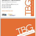 TBG double-sided business card design 2