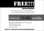 UMBCWorks newspaper advertisement