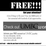 UMBCWorks newspaper advertisement
