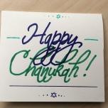 Green Blue Chanukah Card