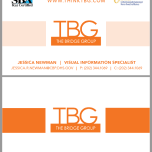 TBG double-sided business card design 3