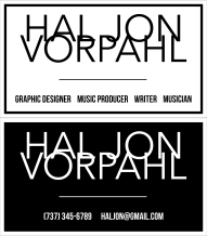 HAL business card double-sided