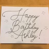 Ashley Birthday Card