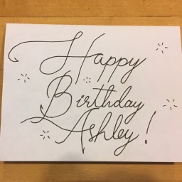 Ashley Birthday Card