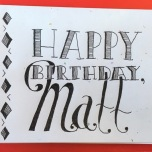 Matt Birthday Card