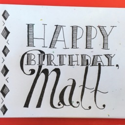 Matt Birthday Card
