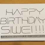 Siwei Birthday Card