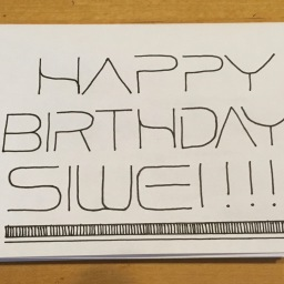 Siwei Birthday Card