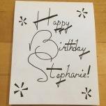 Stephanie Birthday Card