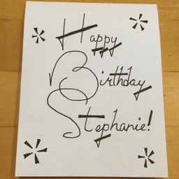 Stephanie Birthday Card