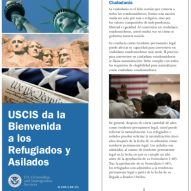 USCIS Refugee and Asylee Brochure - Spanish