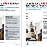 USCIS Teacher Training Seminar/Webinar Interactive Flyers