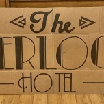 The Overlook Hotel sign